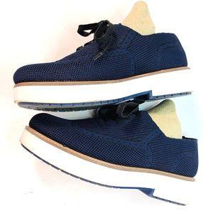 ZARA Navy Blue Wingtip Oxfords - NICE! (8 -9) 39